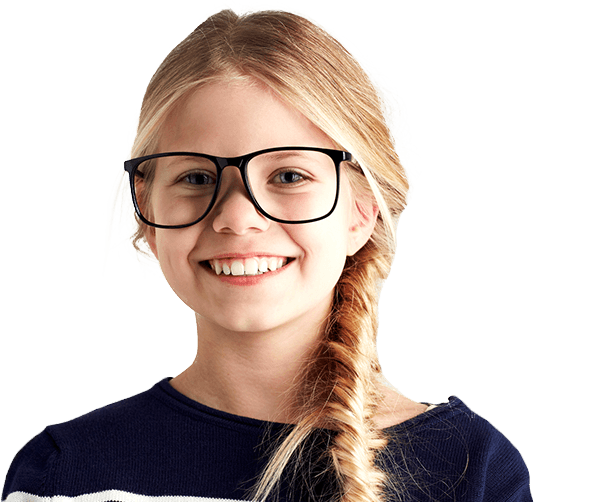 Young smiling girl with glasses