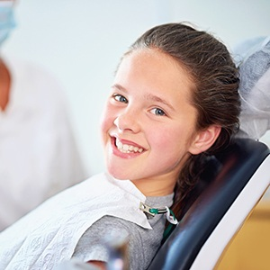 Naperville Children's Dentist Young child smiling brightly